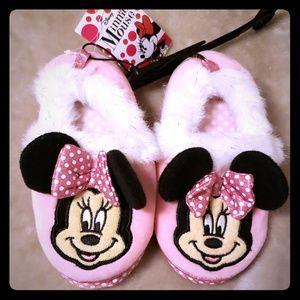 Disney Minnie Mouse Girls Slipper